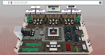 Virtual event site from connecteventhub.com